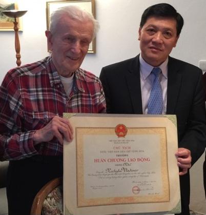 Ông Vladimir Nechyba, người bạn lâu năm của Việt Nam đã mất ngày 7.1.2019, thọ 99 tuổi.
