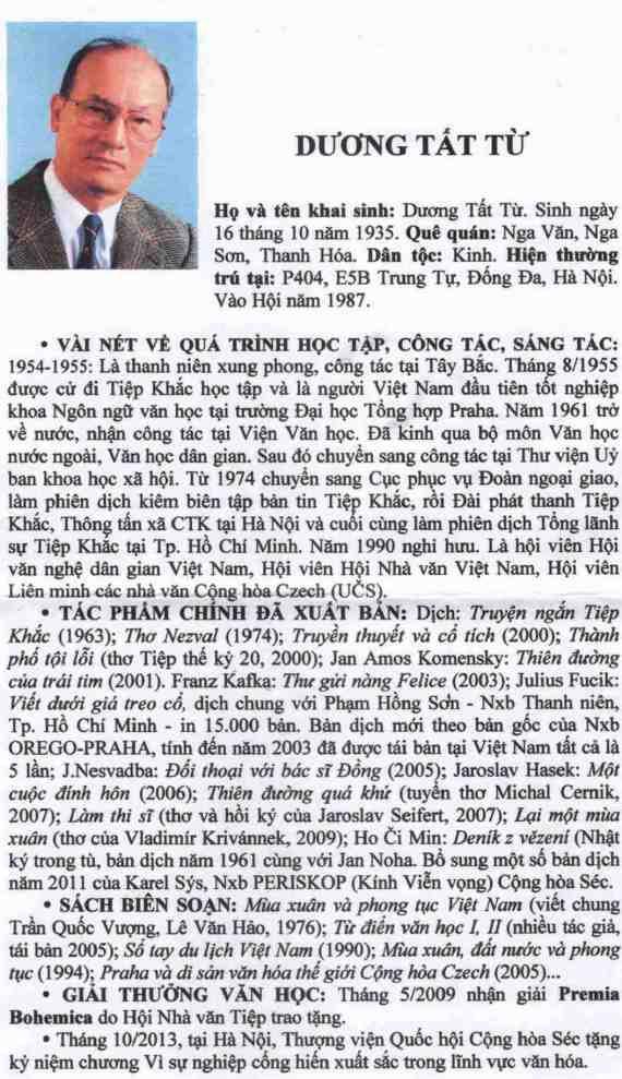 Cáo phó ông Dương Tất Từ